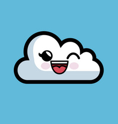 Cloud computing character isolated icon vector