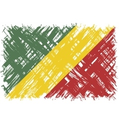 Congolese grunge flag vector image vector image