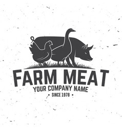 Farm meat badge or label vector