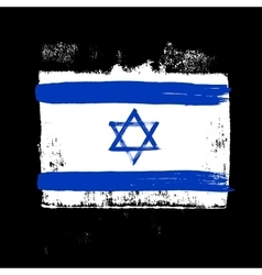 Flag of Israel on a black background vector image vector image