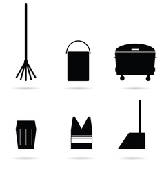 garbage tools vector image
