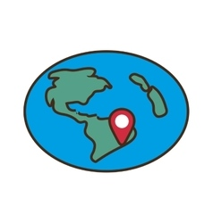 Globe location pointer map vector