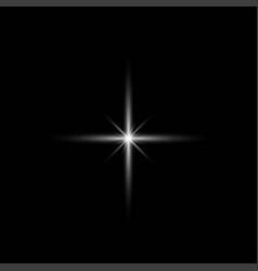 Glow light effect star burst with sparklessun vector
