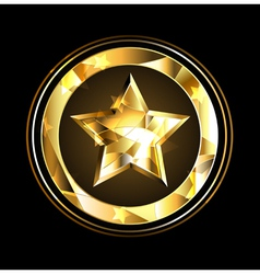 Gold Star foil vector image vector image