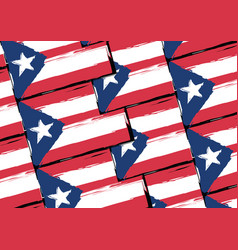 Grunge puerto rico flag or banner vector