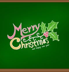 Merry christmas drawing on chalkboard vector