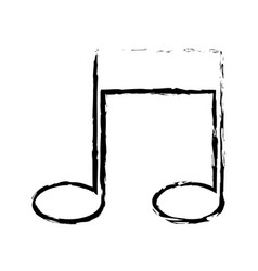 Note music melody sound artistic sketch vector