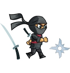 Running ninja game sprite vector