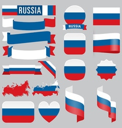 Russia flags vector