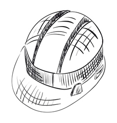 Safety hard hat over white vector image vector image