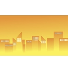 Silhouette of building apartment vector