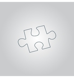 Simple puzzle icon vector