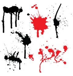 splats and drips vector image