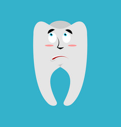 Tooth surprised emoji teeth astonished emotion vector