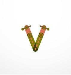 Line letter design vector