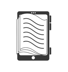 Reader electronic book icon graphic vector