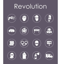 Set of revolution simple icons vector