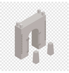 wall fortress isometric icon vector image