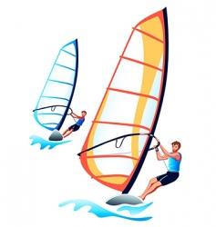 windsurfers vector image