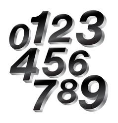 3-d block numbers vector image