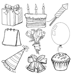 Objects for celebration vector