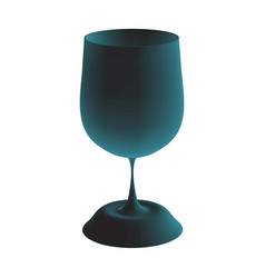 3d image of a blue glass vector image vector image