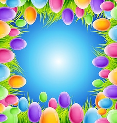 Eggs frame design vector