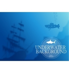 Blurred underwater background vector image