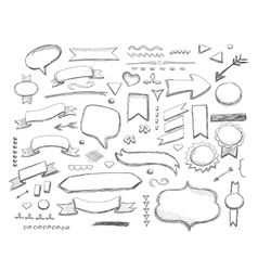 Hand drawn sketch hand drawn elements vector