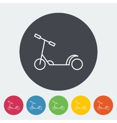Scooter child flat icon vector