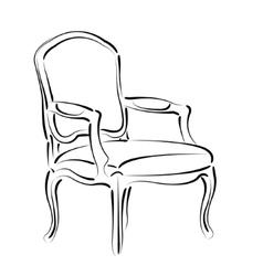 Elegant sketched armchair vector