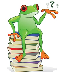 book frog vector image