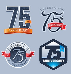 75 years anniversary logo vector