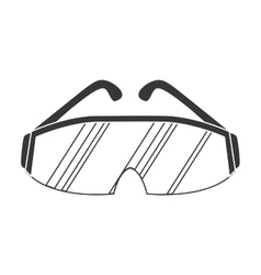 Glasses icon industrial security design vector