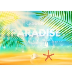 Beautiful seaside view poster vector