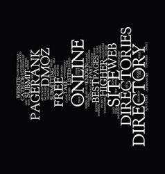 Best online directories text background word vector