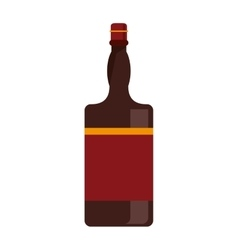 Bottle whiskey expensive liquor vector