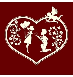 Boy and girl cupids vector image vector image
