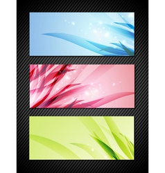 Bright Banner Collection vector image vector image