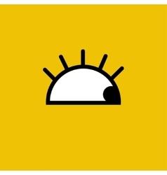 cartoon eye Yellow Eps10 vector image