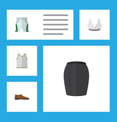 flat icon dress set of stylish apparel singlet vector image