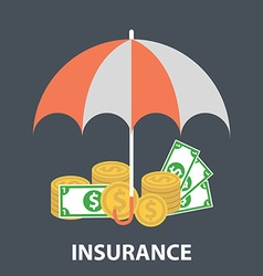 Insurance flat design financial Insurance vector image
