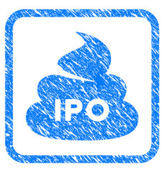Ipo shit framed grunge icon vector