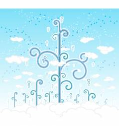 magical cloudscape vector image vector image