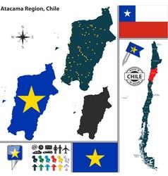 Map of Atacama vector image vector image