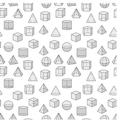 Mathematics and geometry seamless pattern vector
