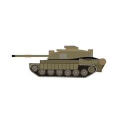 Military tank isolated armoured fighting vehicle vector
