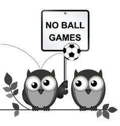 No ball games vector