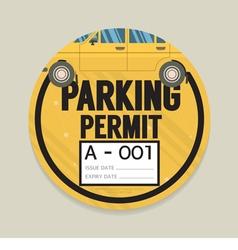 Parking permit card vector