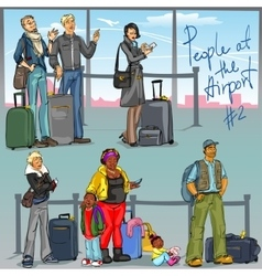 People at airport - part 2 vector